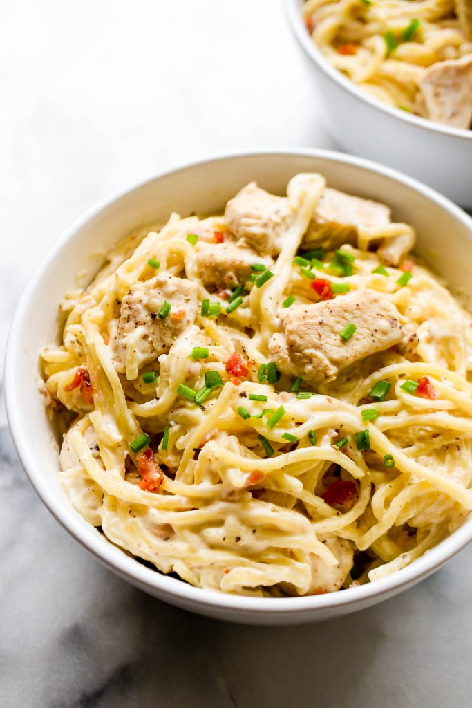 Instant Pot ranch chicken recipes: Instant Pot Bacon, Chicken, and Ranch Pasta