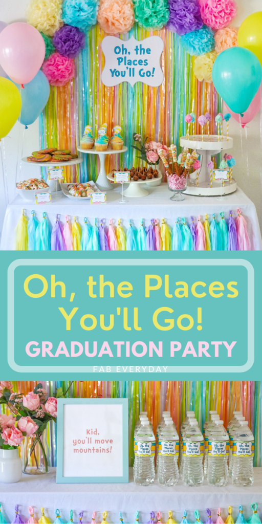 Oh, the Places You'll Go Graduation Party