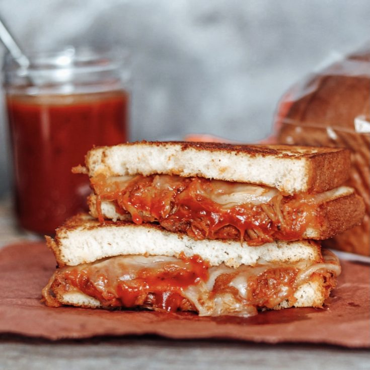 Pulled Pork Grilled Cheese Sandwich