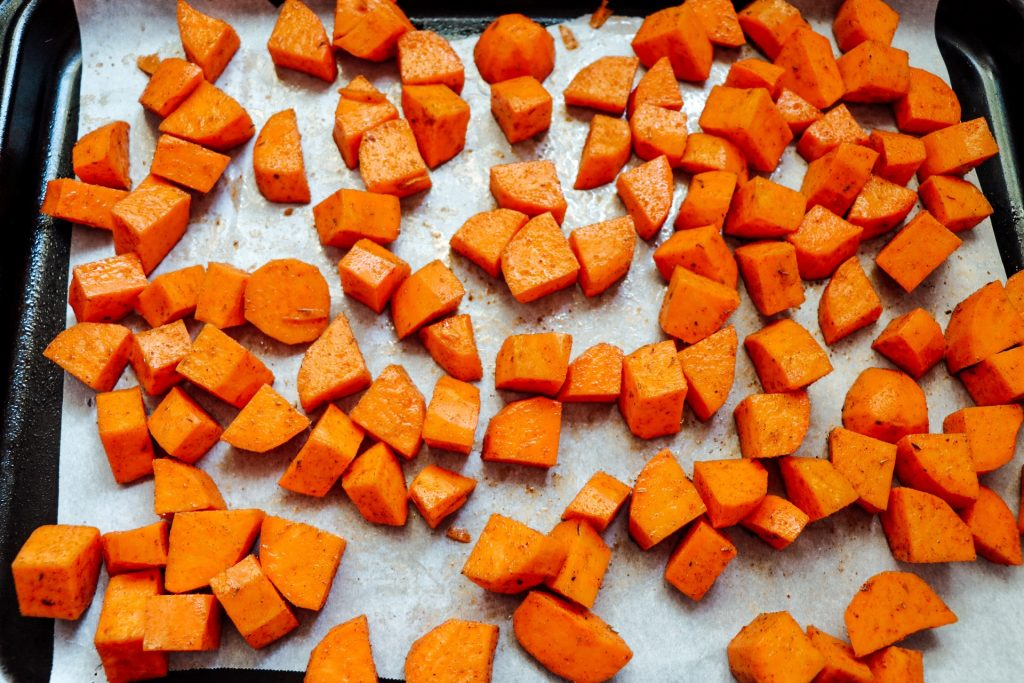How to make sheet pan jerk chicken with sweet potatoes