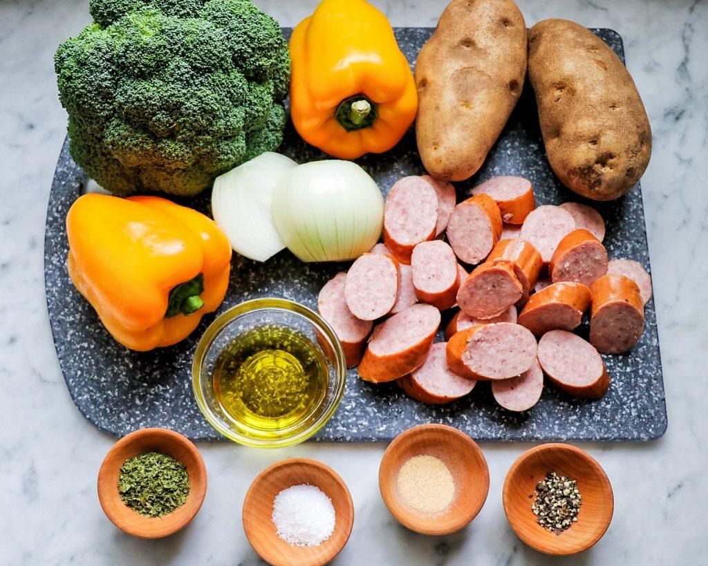 roasted sausage and veggies