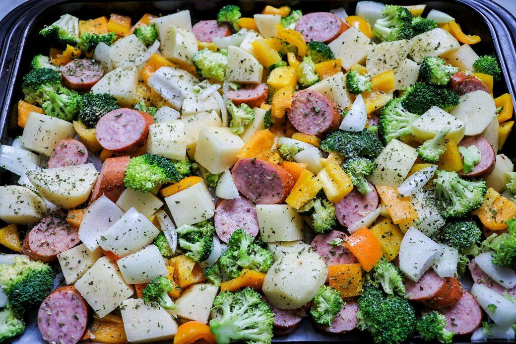 sausage and veggie sheet pan
