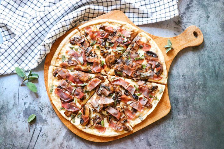 Truffled Prosciutto and Mushroom Pizza (truffle pizza recipe)