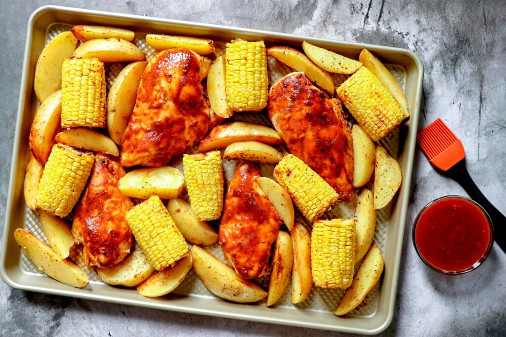 baked BBQ chicken breast (barbecue chicken breast in the oven)