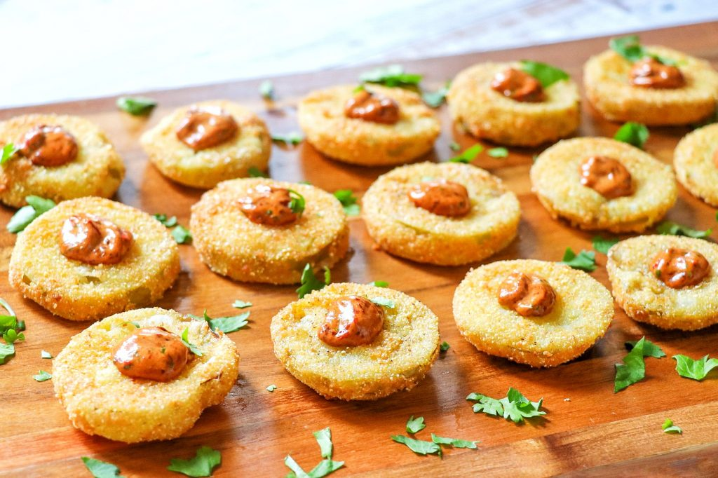 fried tomatillo recipes: tomatillo fried green tomatoes