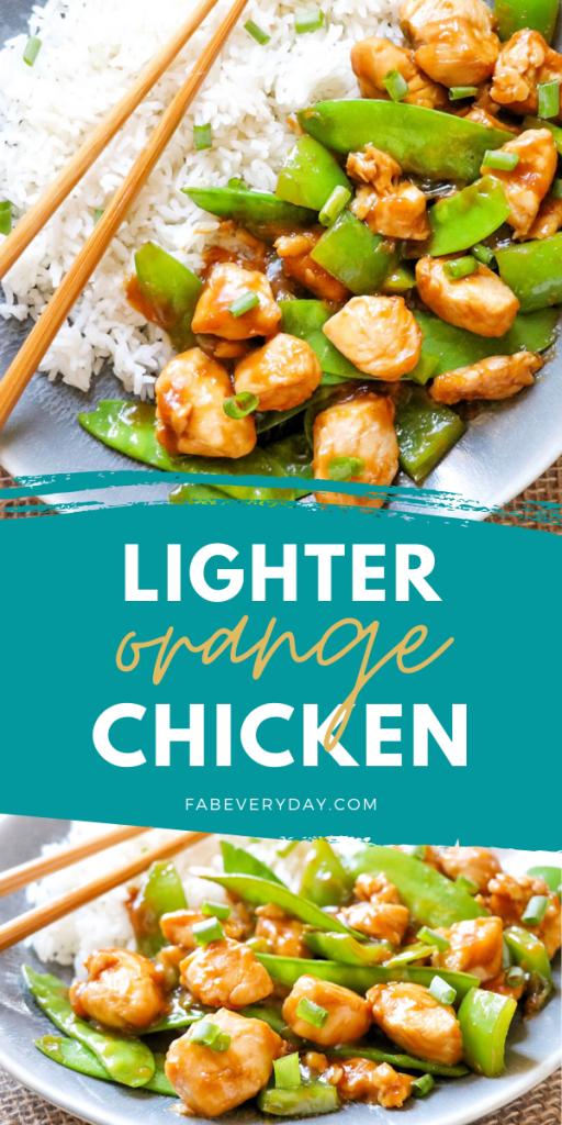 Lighter Orange Chicken recipe