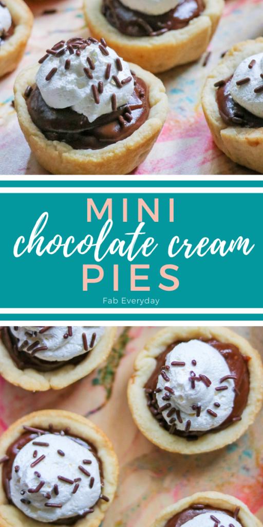 Mini Chocolate Pies (easy individual chocolate cream pie recipe)