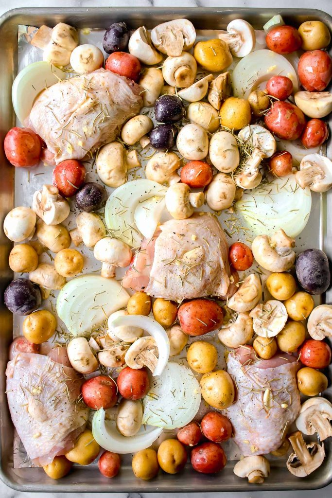 one pan chicken thighs and potatoes