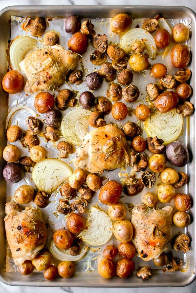 baked chicken and potatoes one pan