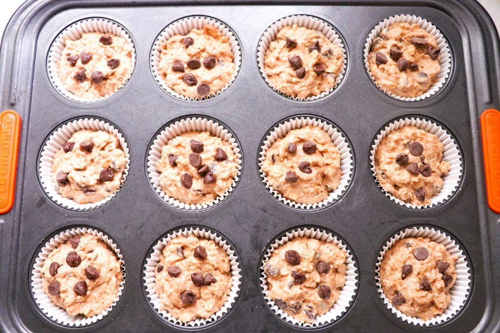 oatmeal chocolate chip muffin recipe