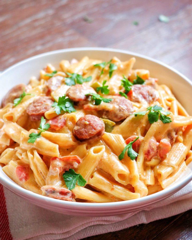 Instant Pot Cajun pasta: Creamy Cajun pasta with sausage
