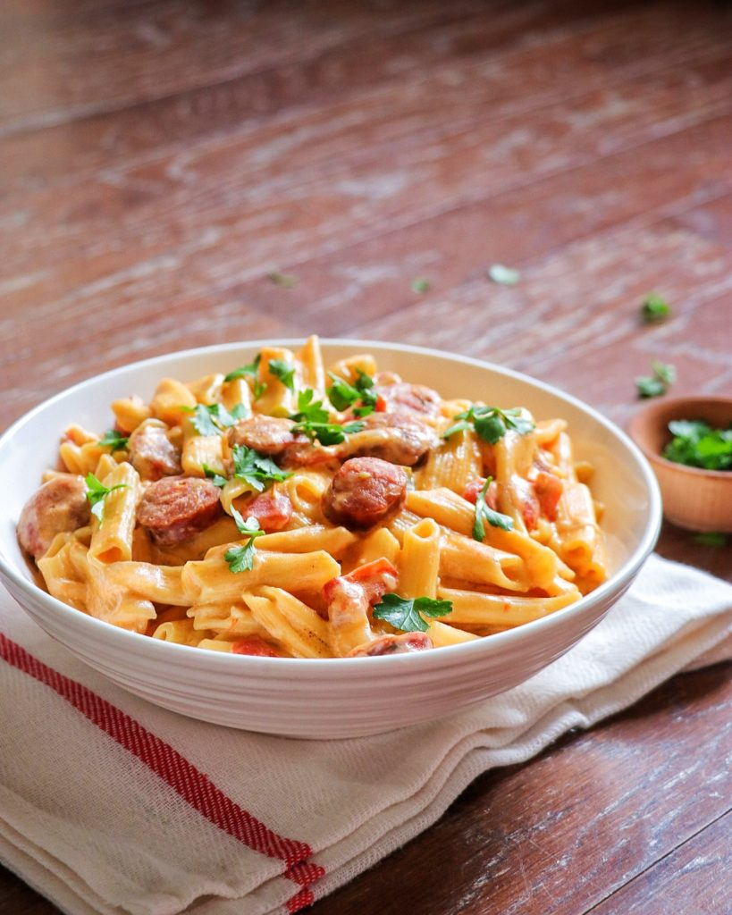 creamy Cajun sausage pasta