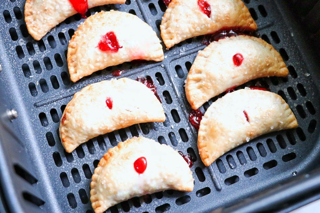 air fryer fried pies: mini air fryer cherry pie