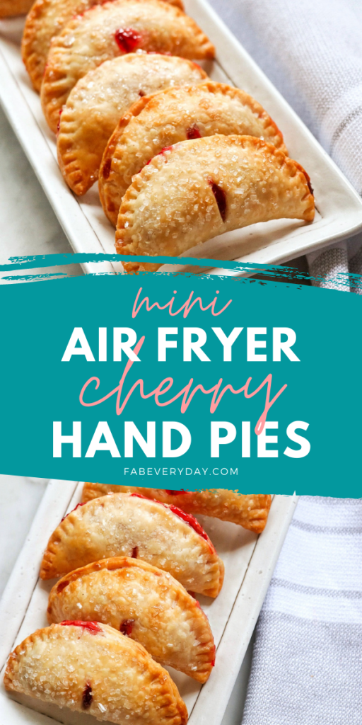 lighter fried cherry pies: air fryer cherry pie