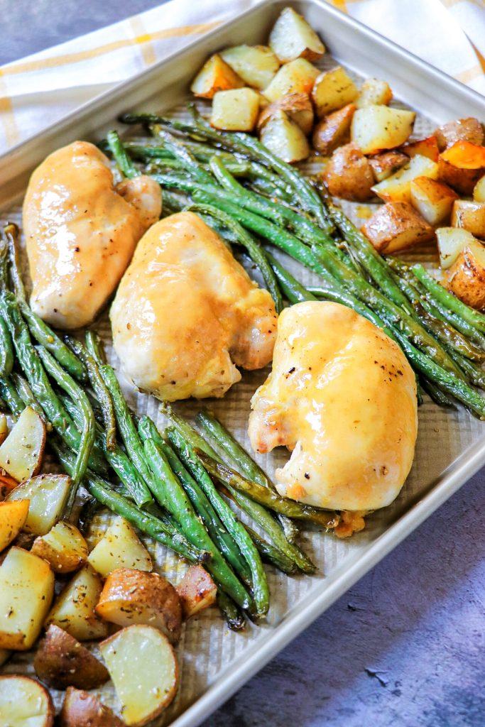 Sheet pan Dijon chicken