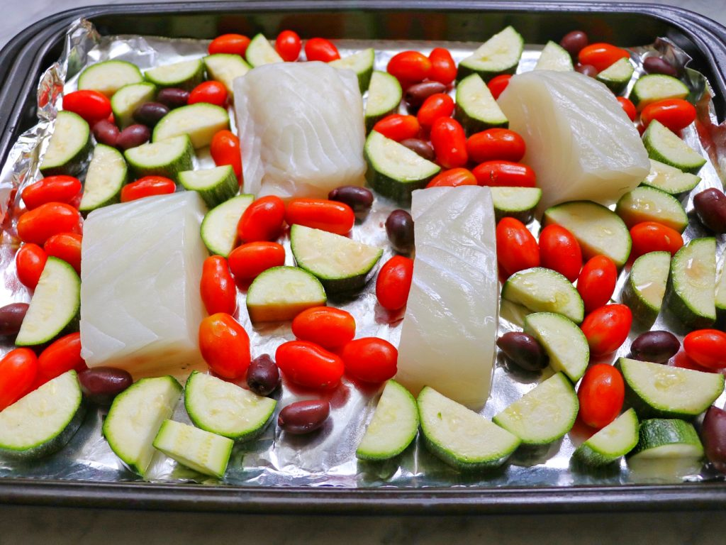 halibut sheet pan recipe