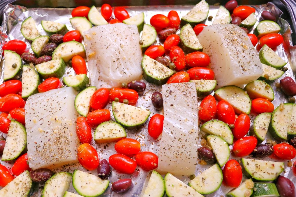sheet pan halibut (one pan halibut recipe)