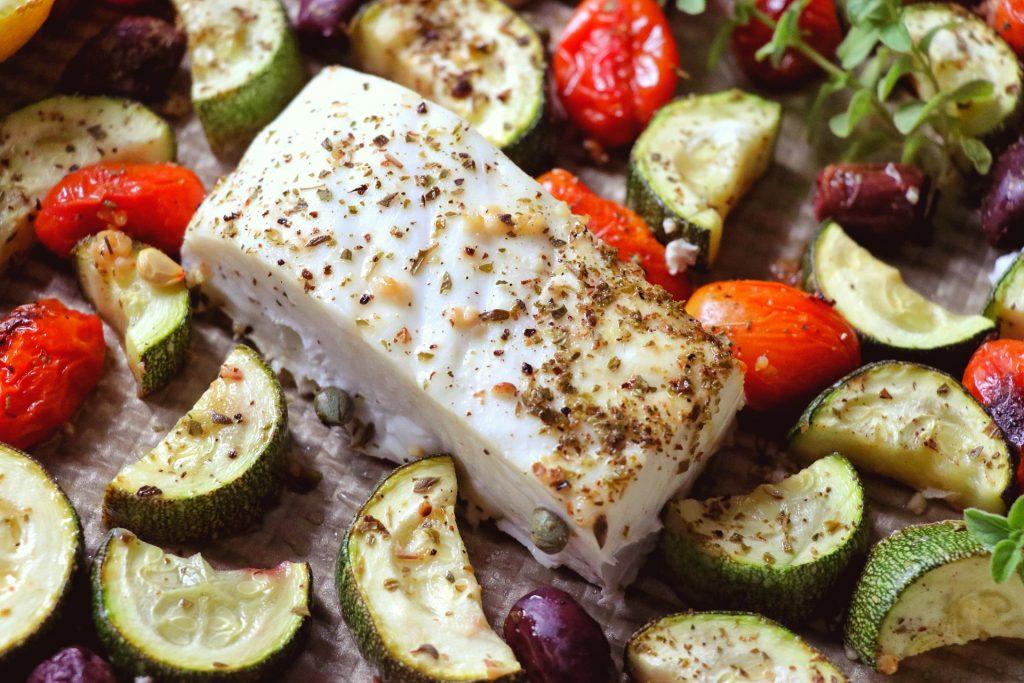 Mediterranean halibut recipe