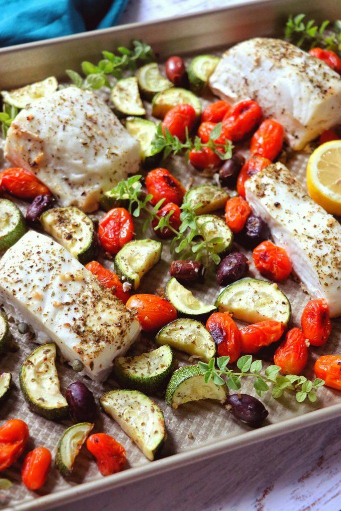 sheet pan halibut recipe