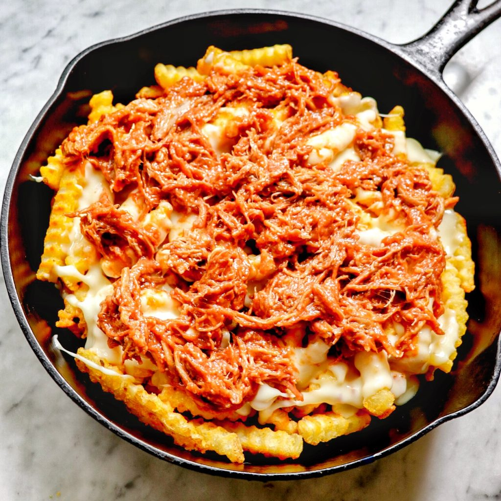 poutine recipe with meat: pulled pork poutine