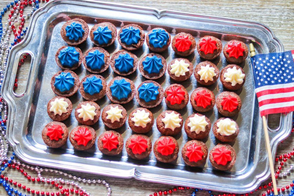 4th of July brownie bites (the best brownie bite recipe!)