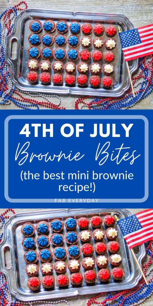 4th of July Brownie Bites (the best mini brownie bites recipe)