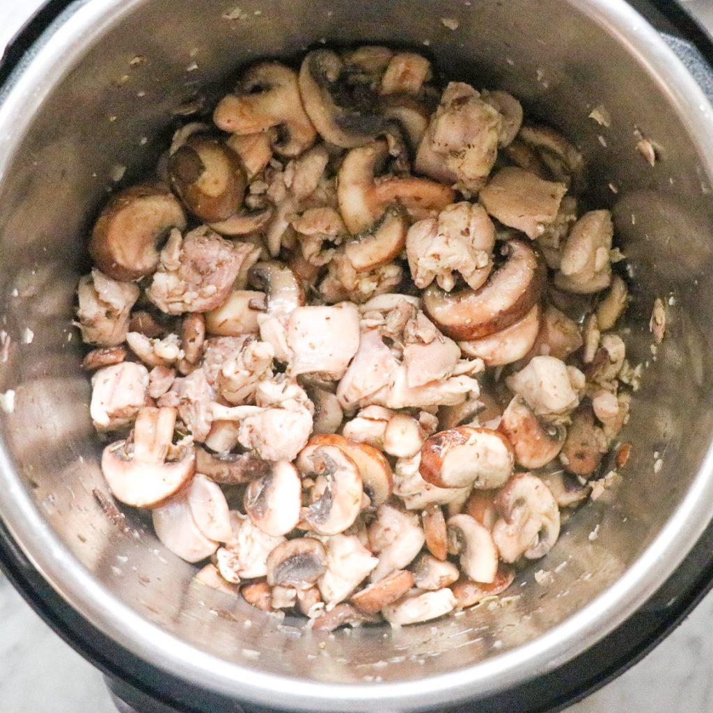 chicken mushroom pasta Instant Pot