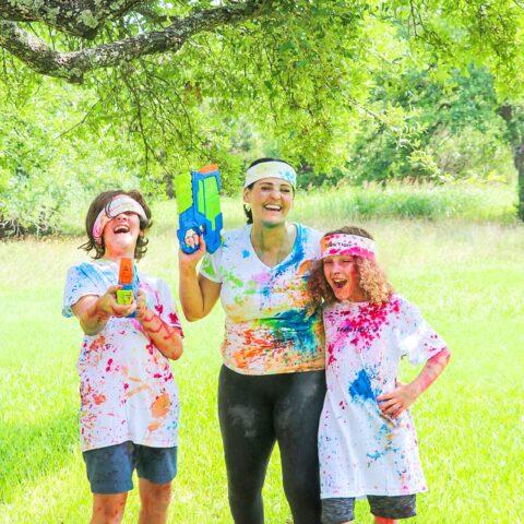 Ideas for Tie Dye Family Tie Dye Water Gun Fight