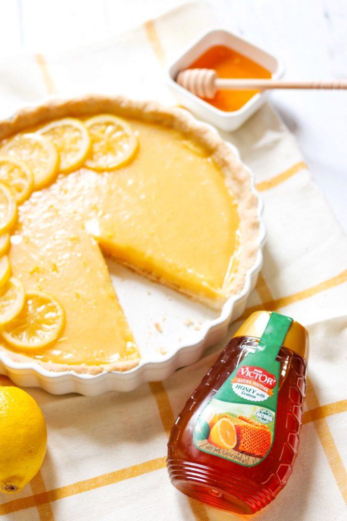 Easy lemon tart recipe: Honey lemon curd tart with shortbread crust