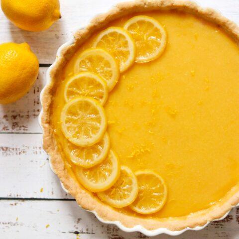 Honey-Lemon Tart with Shortbread Crust
