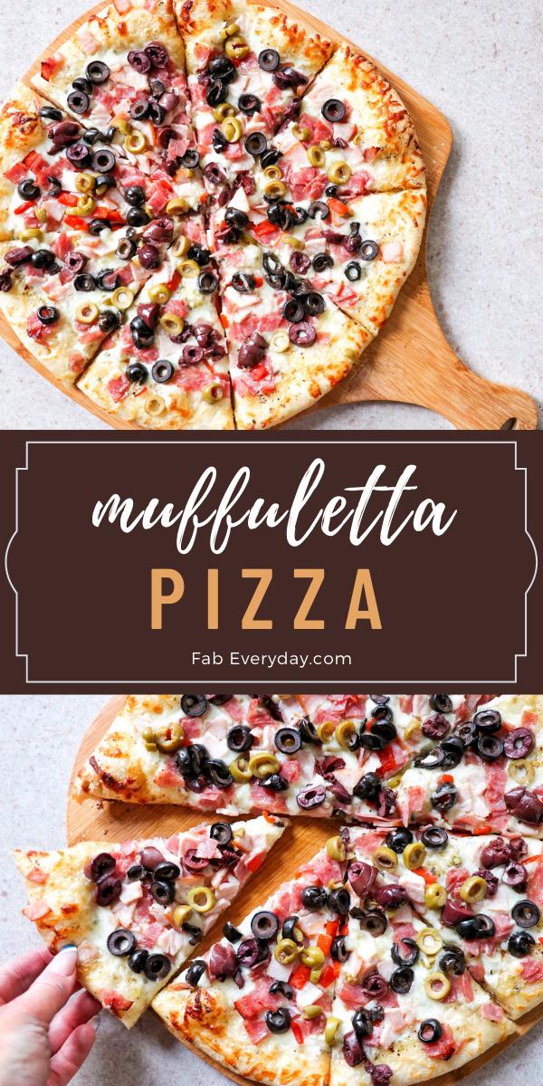 Muffuletta Pizza recipe