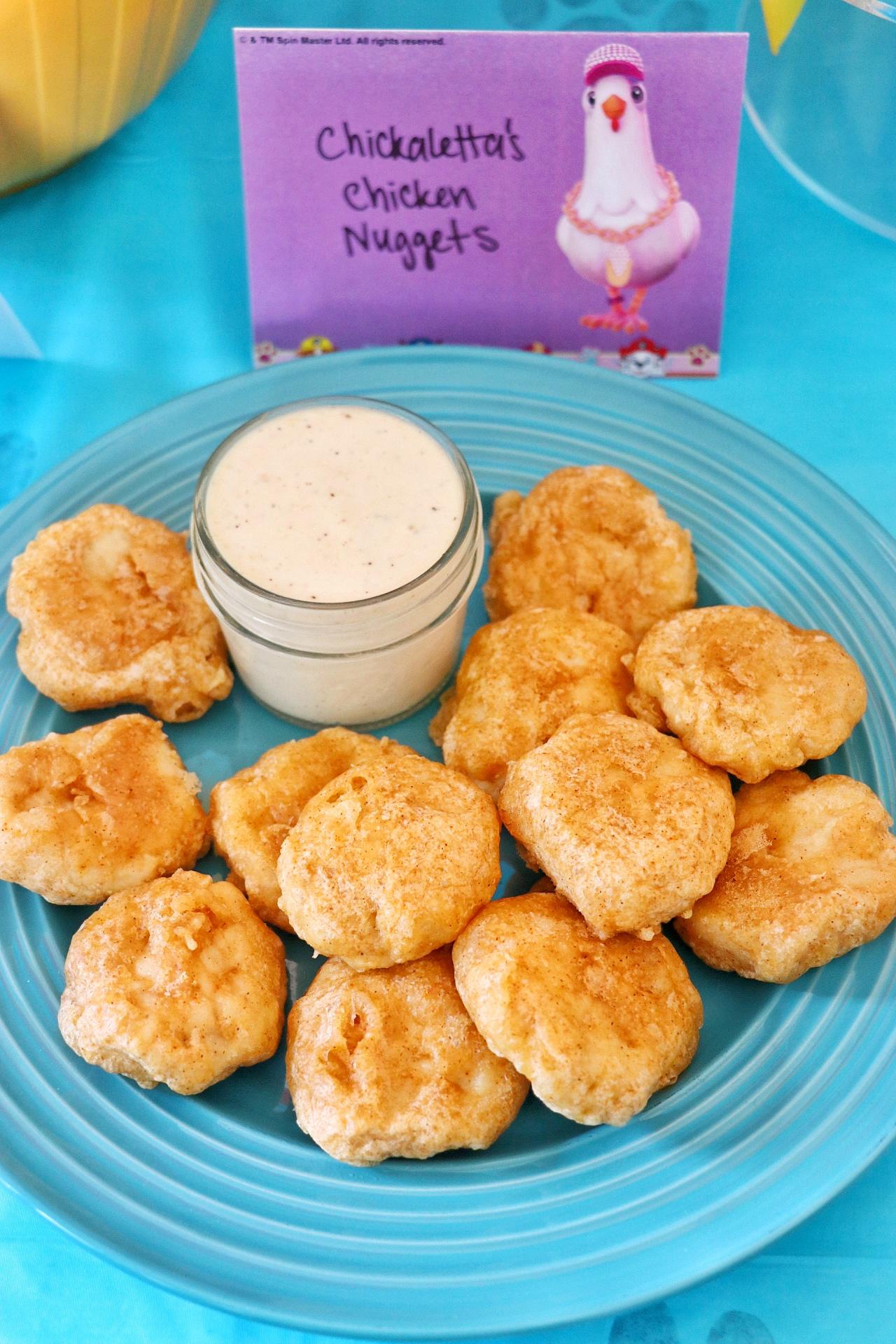 PAW Patrol snack ideas: Chickaletta's Chicken Nuggets