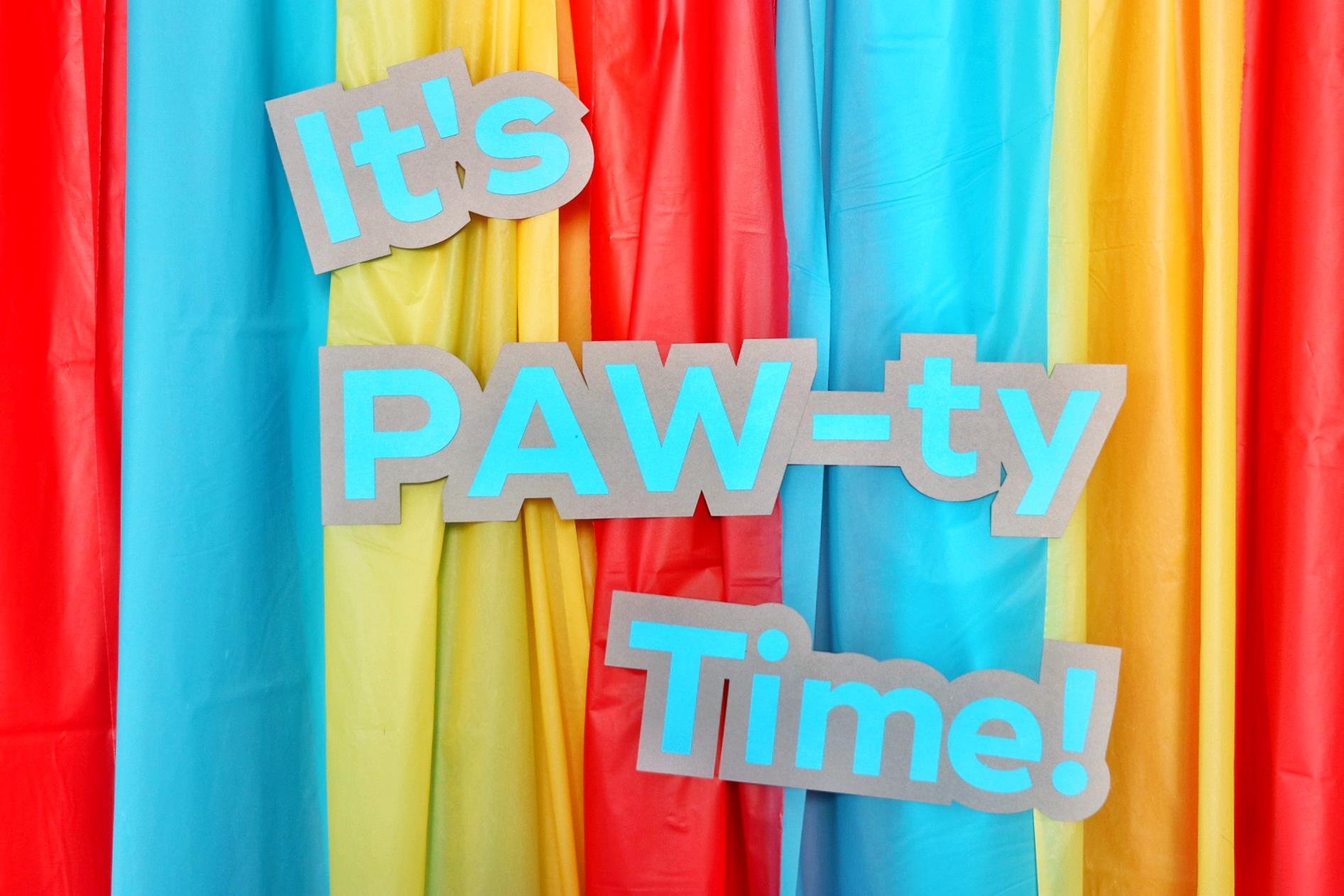 PAW Patrol birthday party ideas: PAW Patrol backdrop
