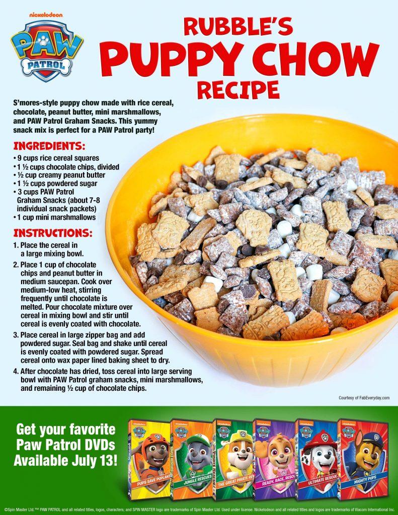 PAW Patrol food ideas (PAW Patrol themed food): Rubble's Puppy Chow