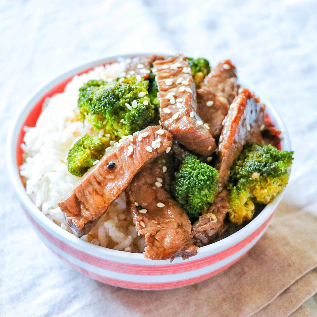 beef broccoli sheet pan