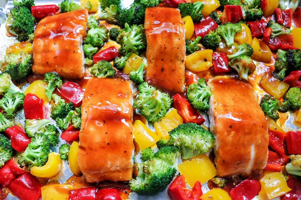 one pan salmon dinner
