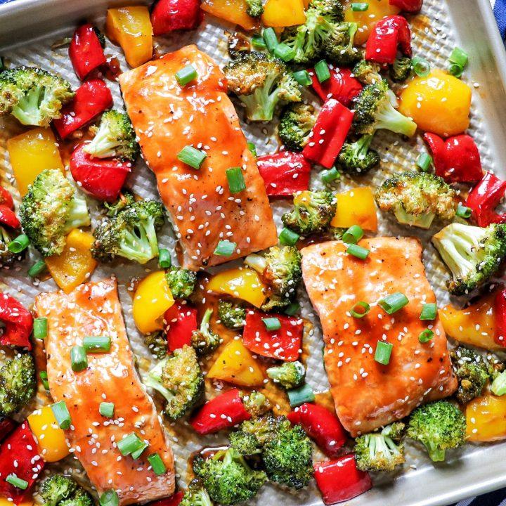 Sheet Pan Teriyaki Salmon and Veggies