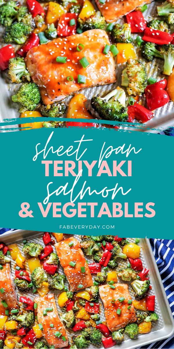 Sheet Pan Teriyaki Salmon and Veggies (roasted salmon and vegetables)