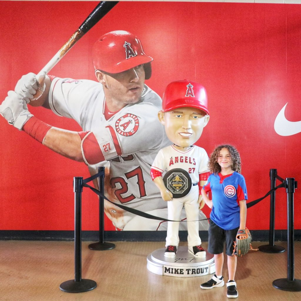 Mike Trout bobblehead statue at Angel Stadium