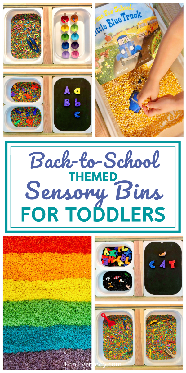 back to school sensory bin ideas (sensory bin toddler activities)