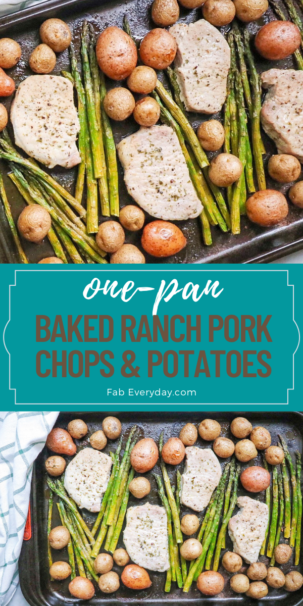 Baked Ranch Pork Chops and Potatoes