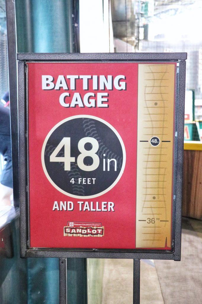 Dbacks kids club batting cage