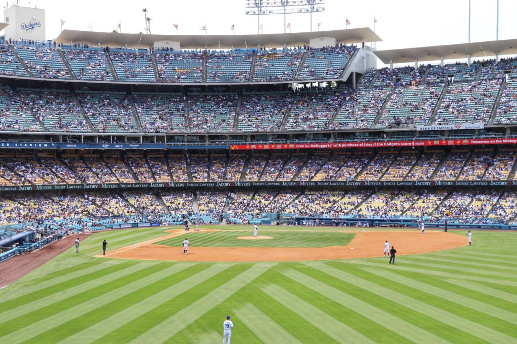 Visiting Los Angeles for a Dodgers Game with kids