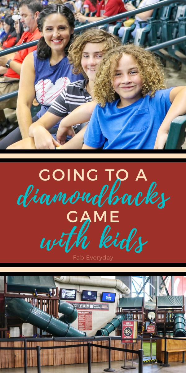 Going to a Diamondbacks game with kids