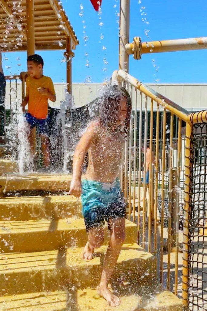 Kid's splash zone at Hilton Anaheim