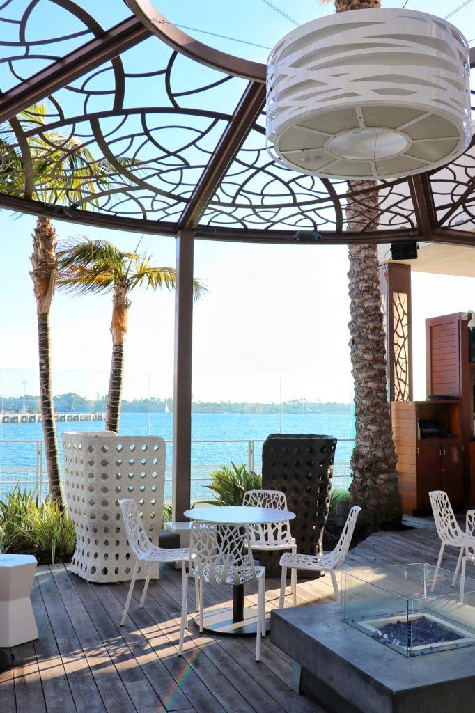 The pool area at Hilton San Diego Bayfront (hotel near Petco Park San Diego)