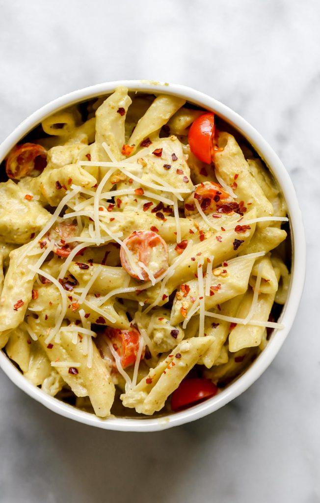 Instant Pot Chicken Pesto Pasta (easy Instant Pot chicken pasta recipe)