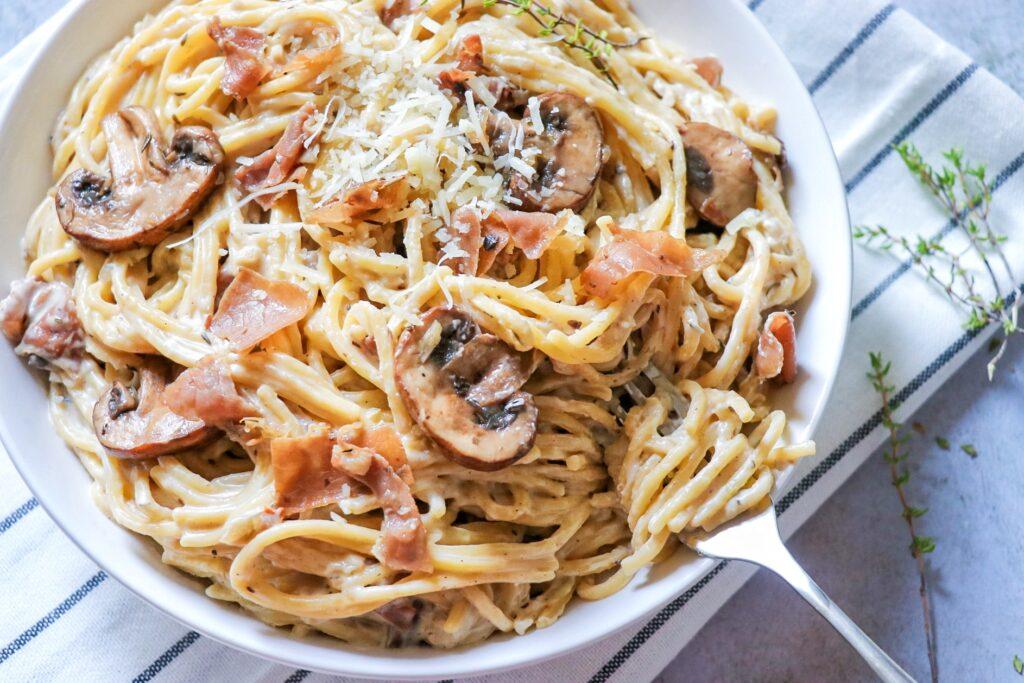 Instant Pot Mushroom Prosciutto Pasta (Instant Pot mushroom pasta recipe)