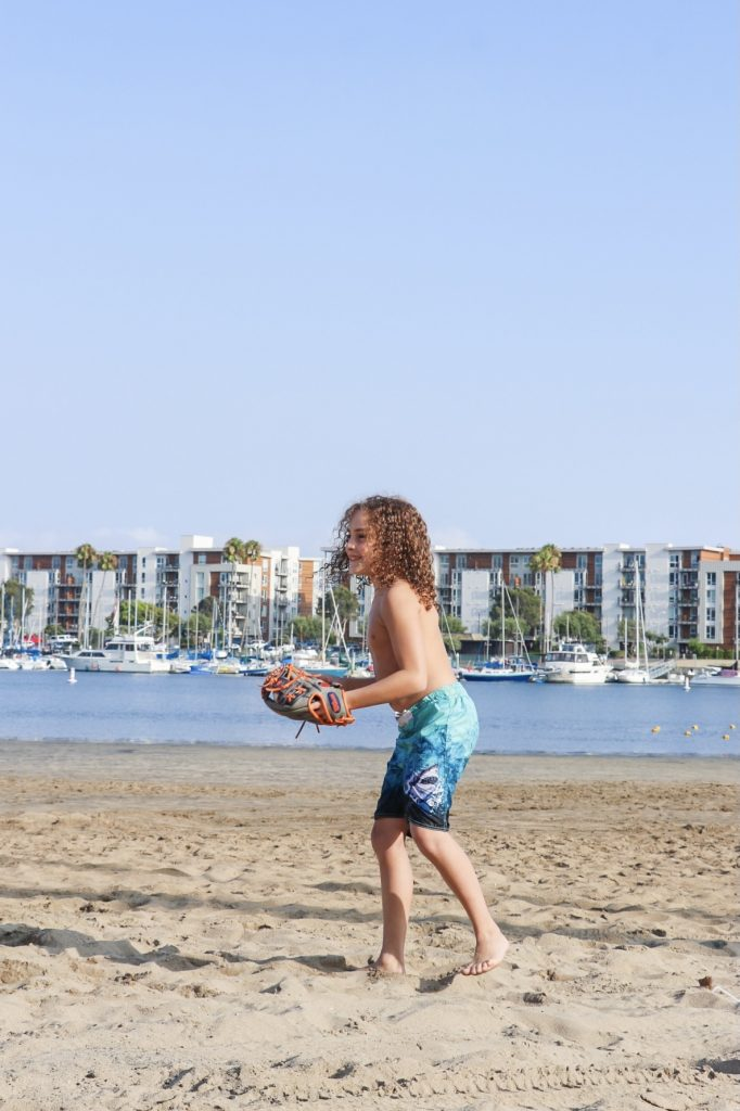 Family fun at Mother's Beach in Marina del Rey
