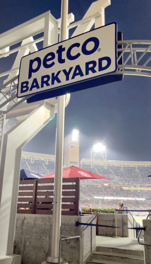 Is Petco Park dog-friendly? Check out the Petco Park Barkyard seating area